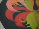 Большая настенная тарелка папье маше. Авторская роспись. Диаметр 30 см., фото №4