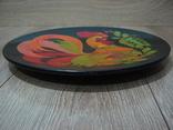 Большая настенная тарелка папье маше. Авторская роспись. Диаметр 30 см., фото №6
