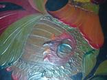 Большая настенная тарелка папье маше. Авторская роспись. Диаметр 30 см., фото №12