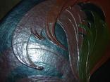 Большая настенная тарелка папье маше. Авторская роспись. Диаметр 30 см., фото №13