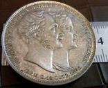 2 таляра  1842 року Баварія ///копія/ посрібнення 999, фото №2