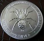 1 долар  2015 року Австралія /репліка/ копія посрібнення 999 не магнітна, фото №2