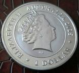 1 долар  2015 року Австралія /репліка/ копія посрібнення 999, фото №3