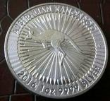 1 долар  2016 року Австралія /репліка/ копія посрібнення 999, фото №2