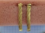 Цепочка и сережки,золото 916., фото №7