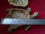 Пепельница - черепаха. Бронза. Клеймо. Вес - 1 килограм, фото №3