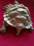 Пепельница - черепаха. Бронза. Клеймо. Вес - 1 килограм, фото №4