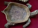 Пепельница - черепаха. Бронза. Клеймо. Вес - 1 килограм, фото №11