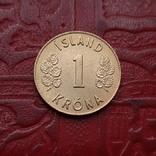 Ісландія 1 крона 1974 року, фото №2
