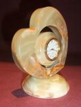 Часы кварцевые в корпусе из камня - оникс., фото №3
