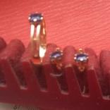Кольцо и серьги с сапфиром, фото №6