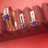Кольцо и серьги с сапфиром, фото №7