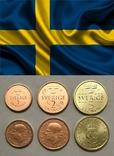 Швеция - Набор из 3 монет 2016 - 1 - 5 крон, фото №2