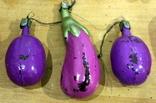 Лот  из 10-ти новогодних игрушек овощей-орехов-грибов. есть нюансы, фото №7