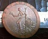 1 пенні 1797 року.  Британія копія,дзвенить не магнітна, фото №2