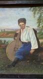 Картина старинная Кобзарь с бандурой худ.Мария К., фото №6