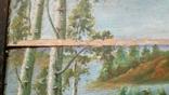 Картина старинная Кобзарь с бандурой худ.Мария К., фото №9