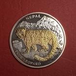 10 Непал 2005 год Леопард золото,глаза брильянты, фото №2