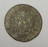 1/2 крейцера, 1800 А Австрия, фото №2