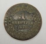 1 крейцер, 1812 В Австрия, фото №2