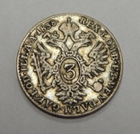 3 крейцера, 1838 г Австро-Венгрия, фото №2