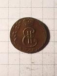Сибирская монета Полушка 1781 КМ копия, фото №4