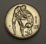 1/2 лека, 1930 г Албания, фото №2
