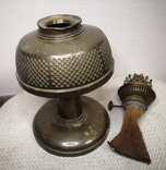 Латунна гасова лампа арт-деко, фото №3