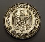 2 рейхсмарки, 1934 F Третий Рейх, фото №2