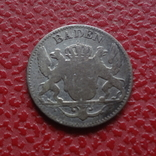 3 крейцера 1849 Баден  серебро    (Б.4.19), фото №2