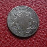 3 крейцера 1849 Баден  серебро    (Б.4.19), фото №3
