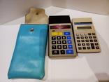 Калькуляторы Электроника Б3-23 в чехле и Sharp, фото №2