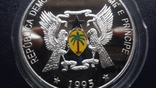1000 добрас 1995 Сантоме и Принсипе Морской конек 25г цветная серебро  (3.4.11), фото №6