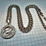 Подвеска знак зодиака Скорпион с цепью. серебро 23,8 грамм, фото №2