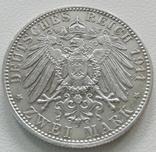 Бавария 2 марки 1911 года, фото №4