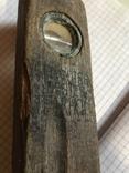 Уровень деревянный, старый., фото №2