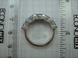 Серебряное Кольцо Размер 17 Яркие Голубые Камни Фианиты Принцесса 925 проба Серебро 868, фото №5