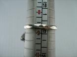 Серебряное Кольцо Размер 18.75 Камни Белые Фиолетовый Лепестки 925 проба Серебро 937, фото №10