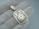 Серебряный Кулон Подвеска Образок Ладанка Богородица Иверская Серебро 925 проба 923, фото №3