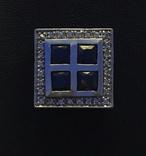 Серебренный кулон с камнями, фото №2