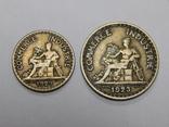 50 центимес и 1 франк, Франция, 1923 г, фото №3