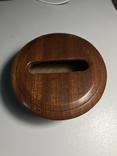 Круглая деревянная коробочка, фото №3
