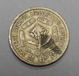 6 пенсов, 1940 г Южная Африка, фото №2