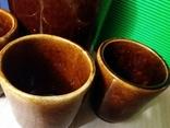 Керамический кувшин и 4 стакана времен СССР, новый, фото №9