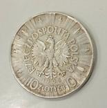 10 злотых 1935 года Пилсудский, фото №2