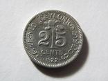 25 центов 1922 Цейлон, фото №2