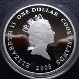 1 доллар 2008 о-ва Кука АН-74 унция серебро, фото №5