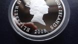 1 доллар 2008 о-ва Кука АН-74 унция серебро, фото №7