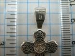 Серебряный Крест Крестик Святой Николай Распятие Иисус Христос 925 проба Серебро 365 фото 4