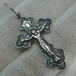 Новый Серебряный Крест Крестик Распятие Купола Голубь Дух Святой 925 проба Серебро 476